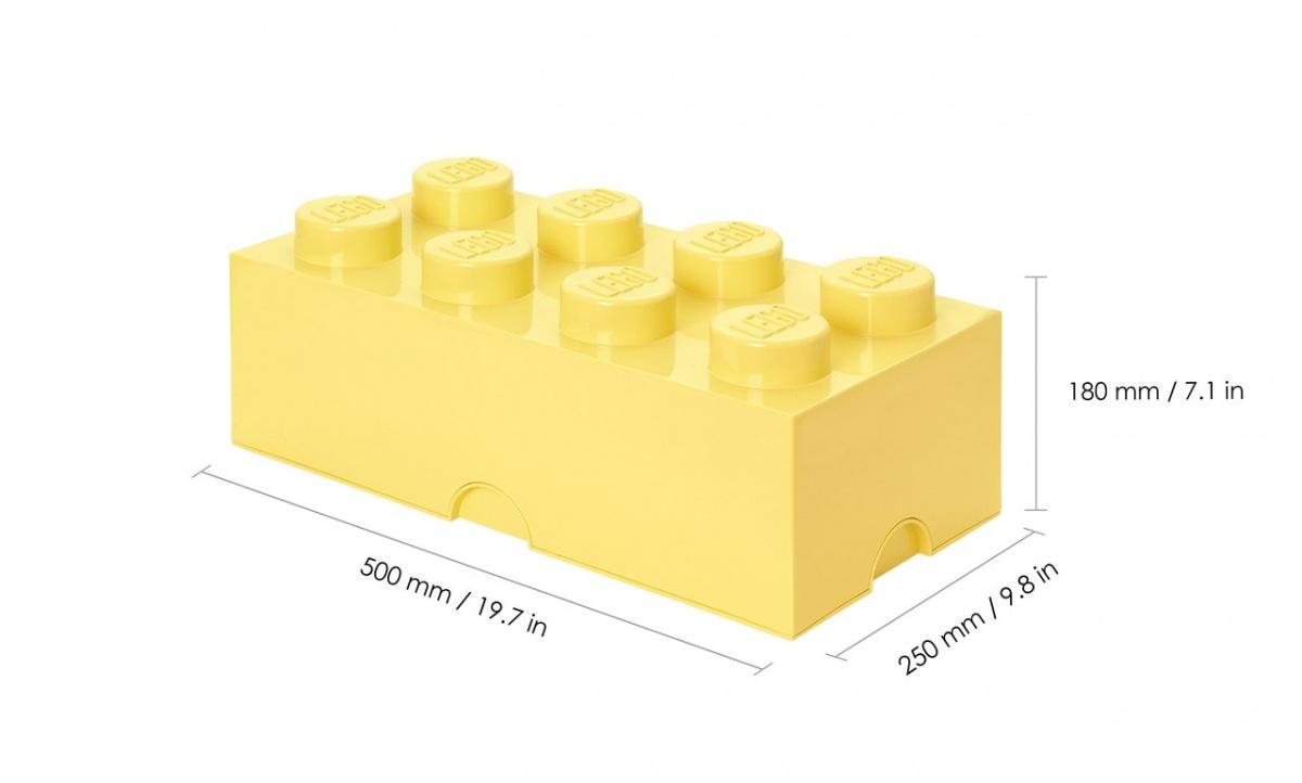 Lego, pojemnik klocek Brick 8 - Jasnożółty (40041741)